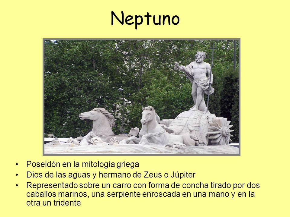 Neptuno Poseidón en la mitología griega