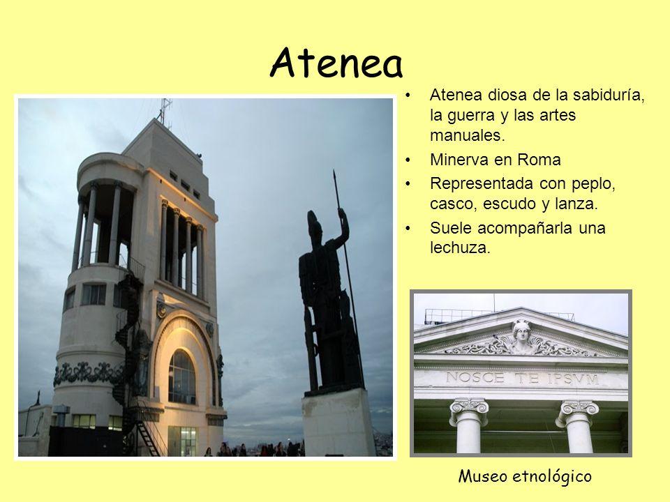 Atenea Atenea diosa de la sabiduría, la guerra y las artes manuales.