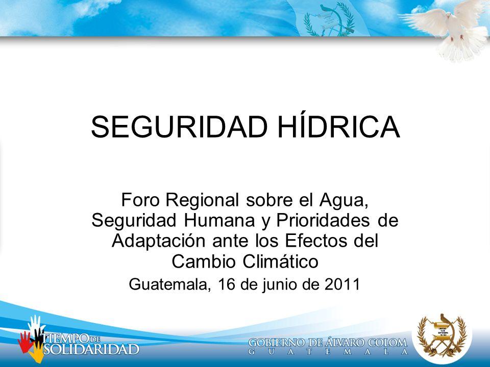 SEGURIDAD HÍDRICAForo Regional sobre el Agua, Seguridad Humana y Prioridades de Adaptación ante los Efectos del Cambio Climático.
