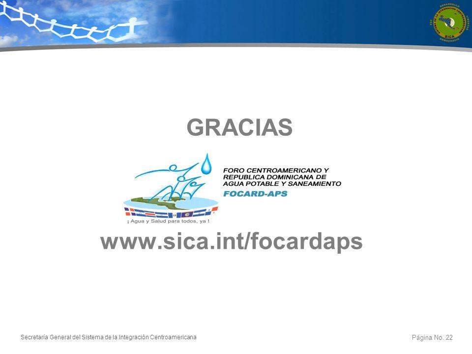 GRACIAS www.sica.int/focardaps
