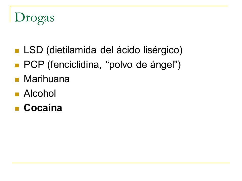 Drogas LSD (dietilamida del ácido lisérgico)