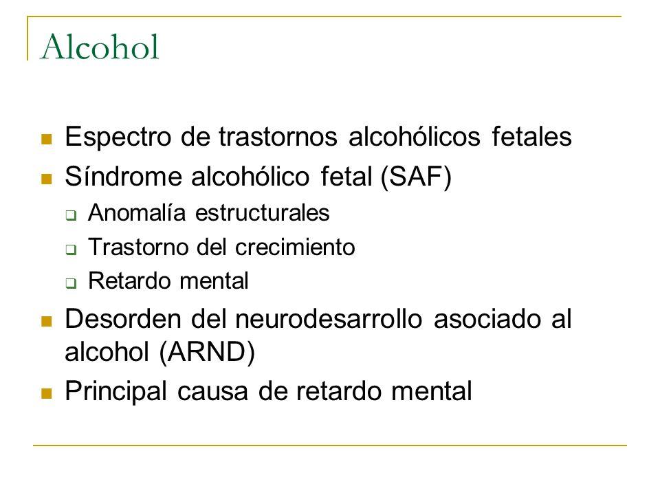 Alcohol Espectro de trastornos alcohólicos fetales