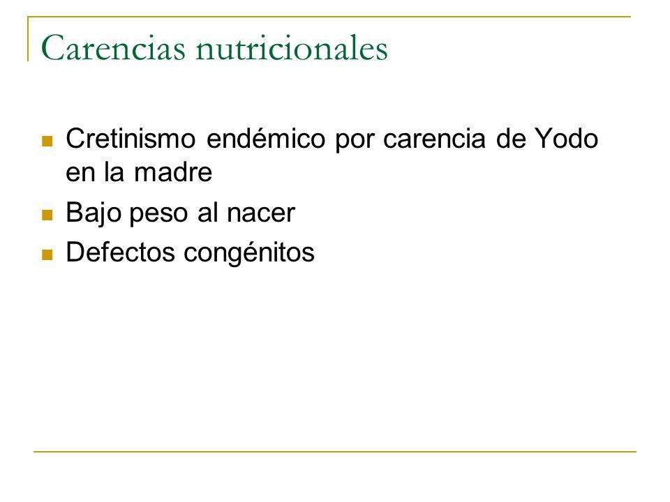 Carencias nutricionales