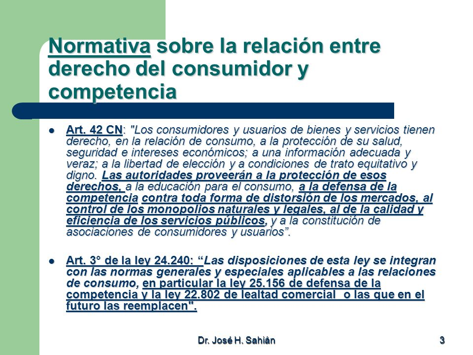 Normativa sobre la relación entre derecho del consumidor y competencia