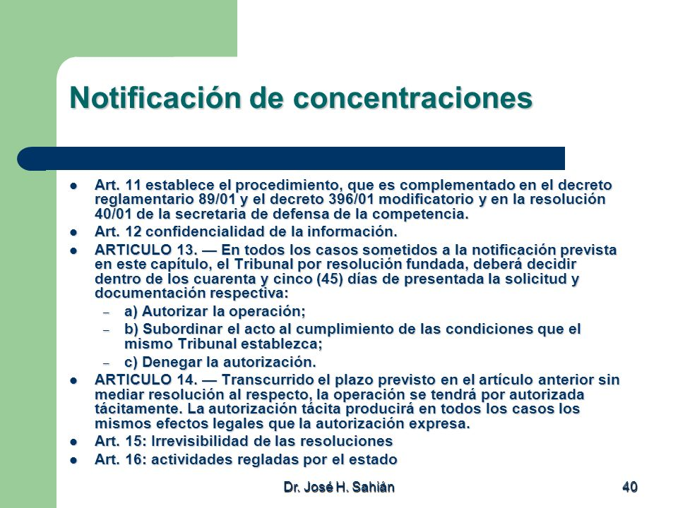 Notificación de concentraciones