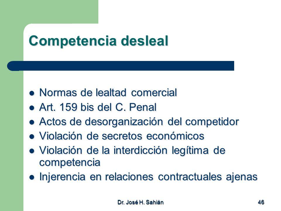 Competencia desleal Normas de lealtad comercial