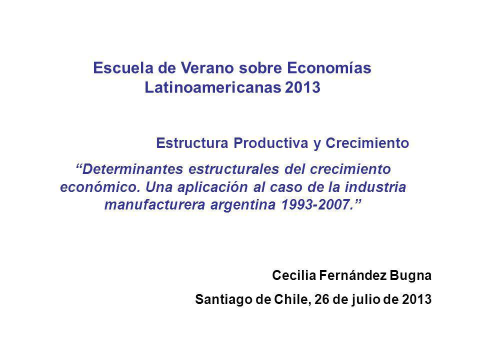 Escuela de Verano sobre Economías Latinoamericanas 2013