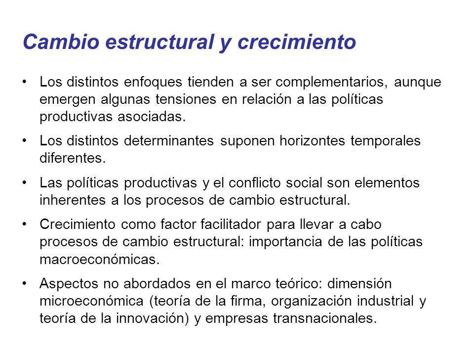 Cambio estructural y crecimiento