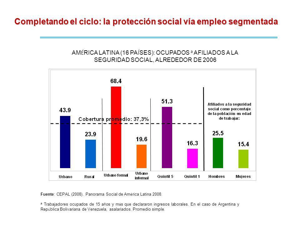 Completando el ciclo: la protección social vía empleo segmentada