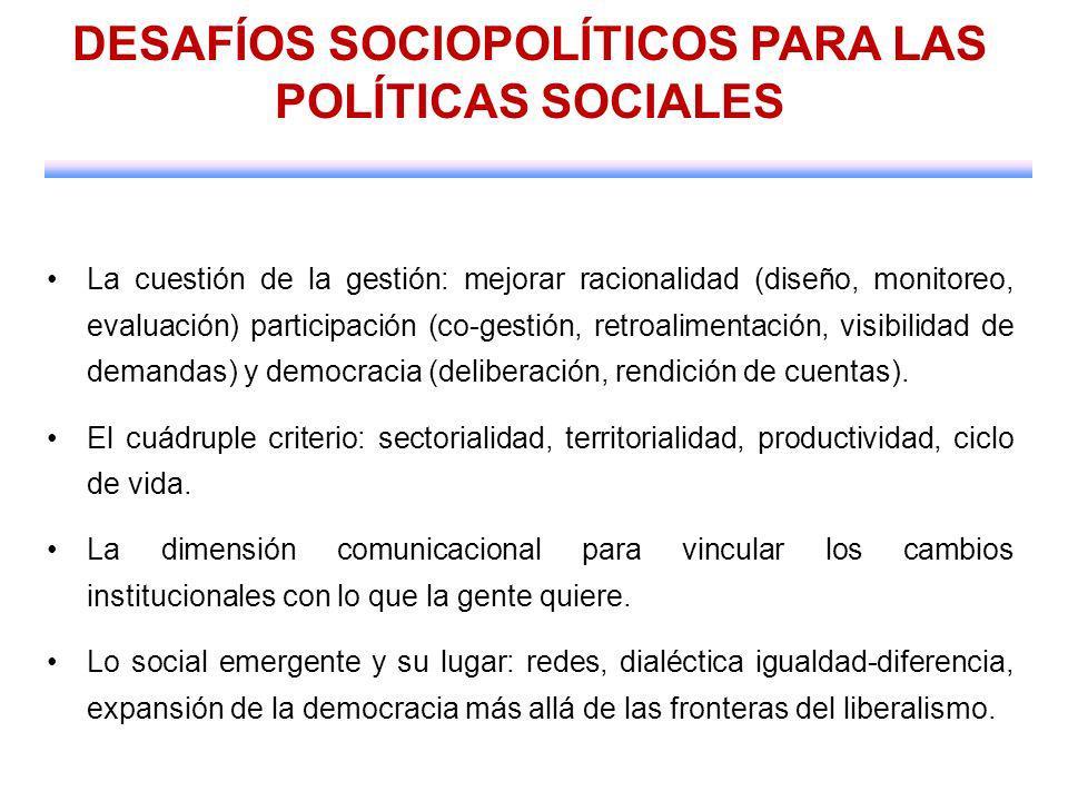 DESAFÍOS SOCIOPOLÍTICOS PARA LAS POLÍTICAS SOCIALES