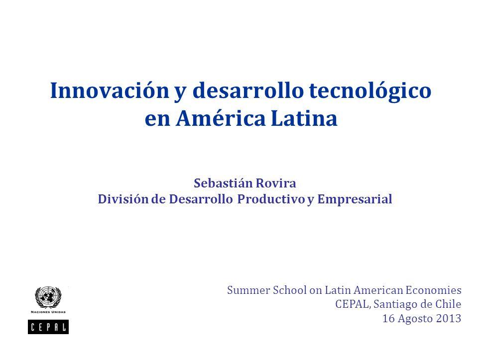 Innovación y desarrollo tecnológico en América Latina