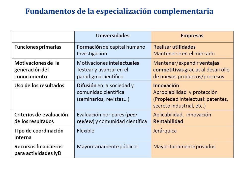 Fundamentos de la especialización complementaria