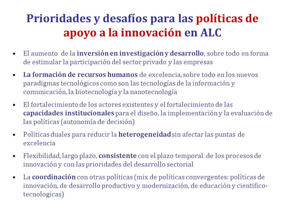 Prioridades y desafíos para las políticas de apoyo a la innovación en ALC