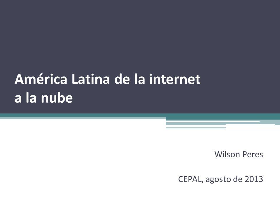 América Latina de la internet a la nube