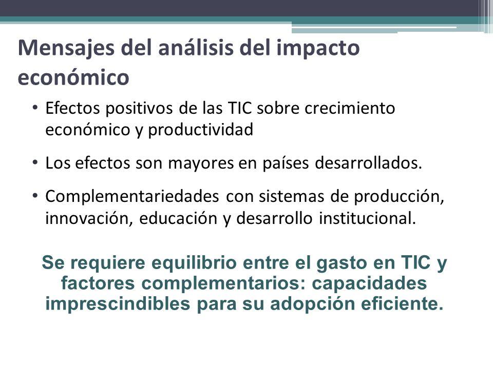 Mensajes del análisis del impacto económico