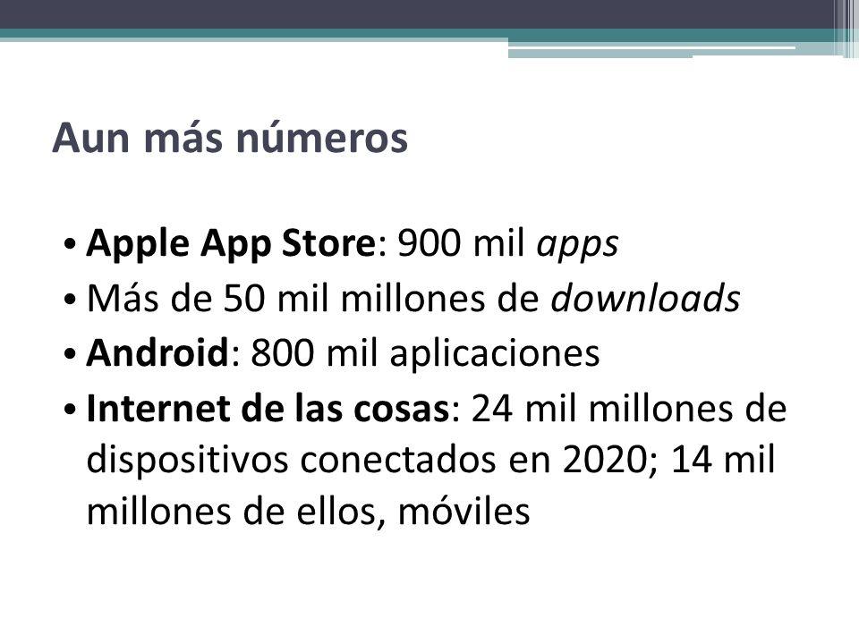 Aun más números Apple App Store: 900 mil apps