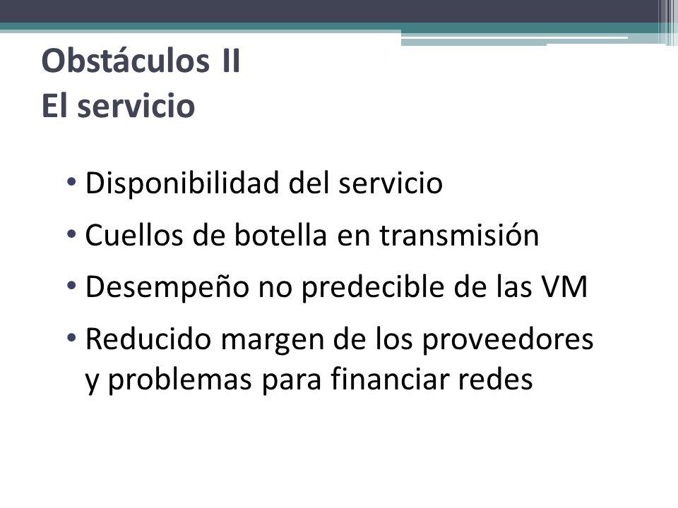 Obstáculos II El servicio