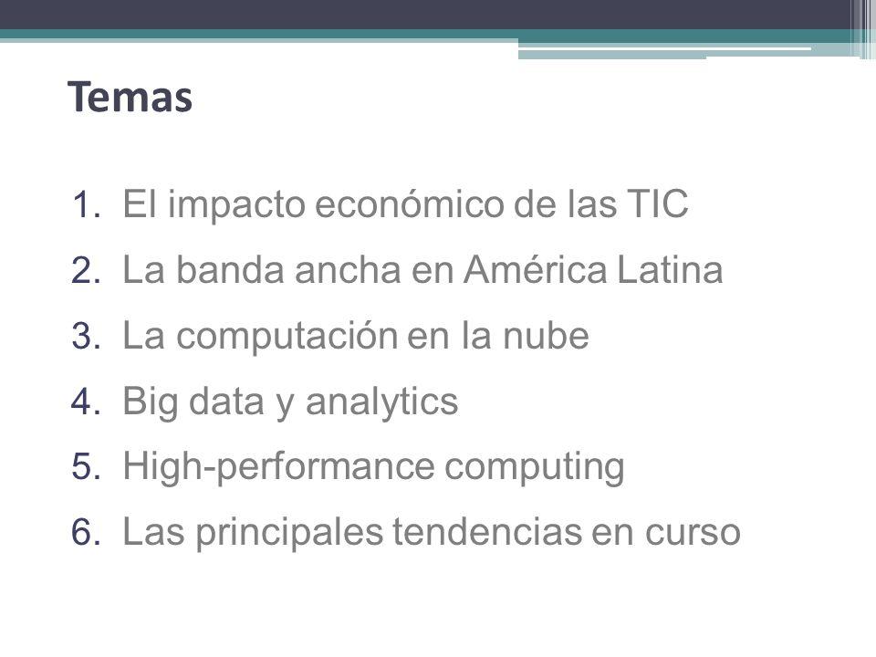 Temas El impacto económico de las TIC La banda ancha en América Latina