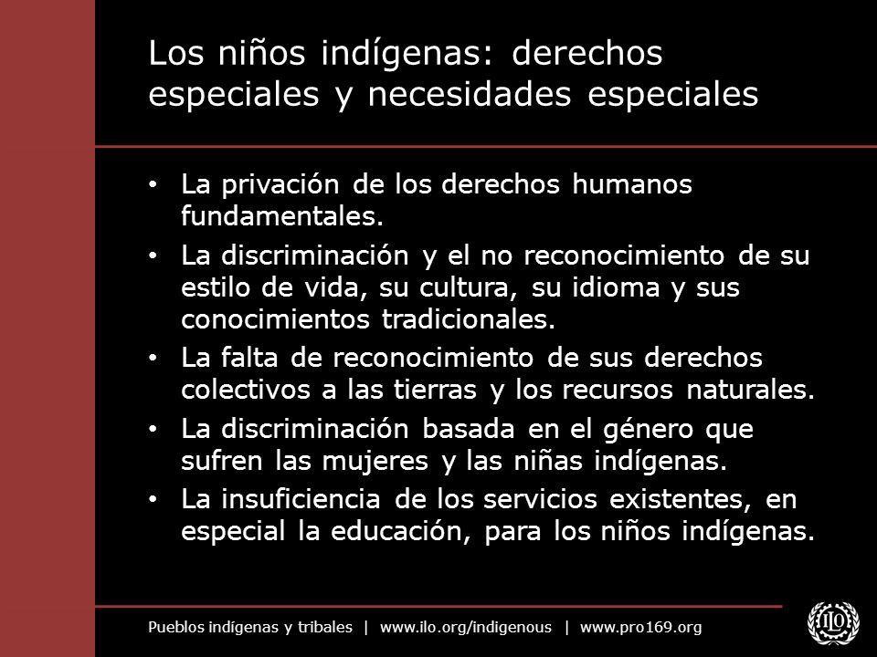 Los niños indígenas: derechos especiales y necesidades especiales