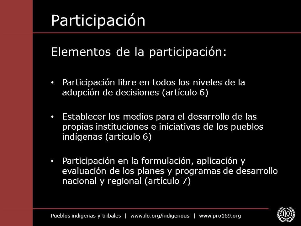 Participación Elementos de la participación: