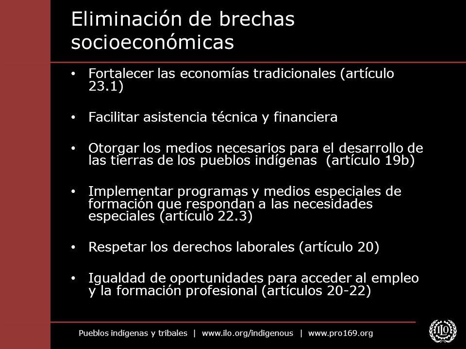Eliminación de brechas socioeconómicas