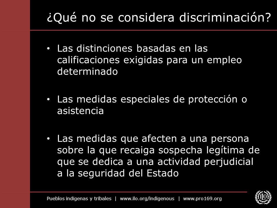 ¿Qué no se considera discriminación