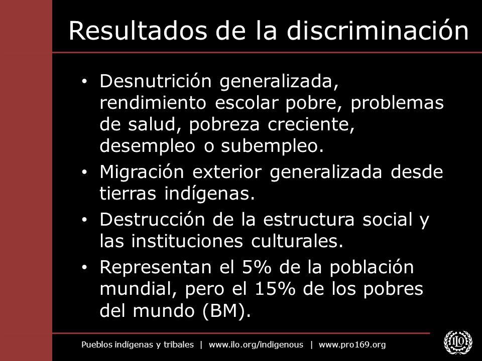 Resultados de la discriminación