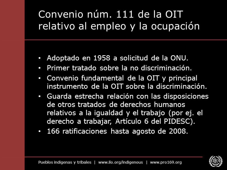 Convenio núm. 111 de la OIT relativo al empleo y la ocupación