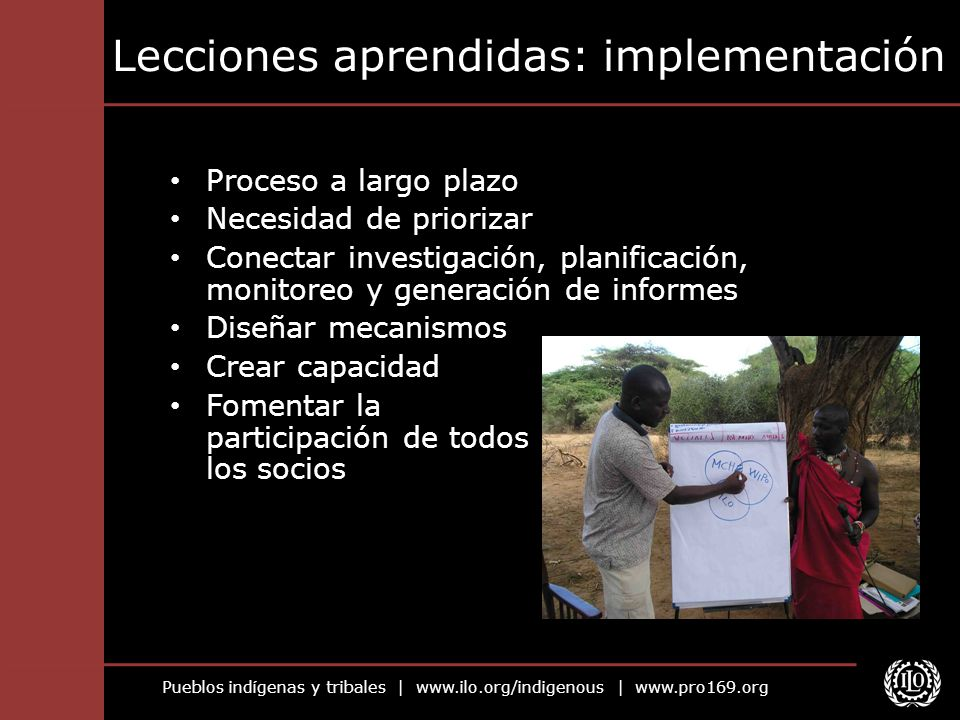 Lecciones aprendidas: implementación