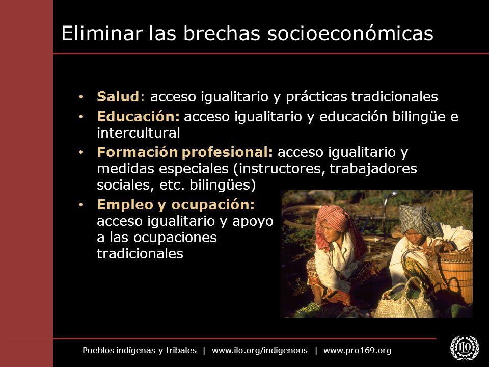 Eliminar las brechas socioeconómicas