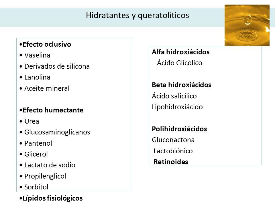 Hidratantes y queratolíticos
