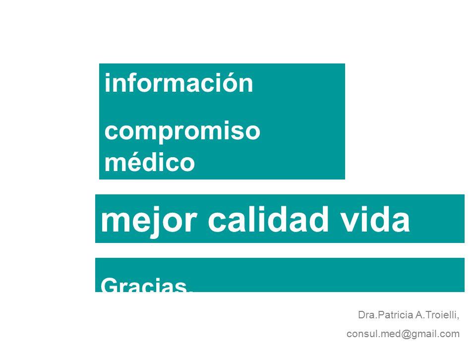 mejor calidad vida información compromiso médico Gracias,