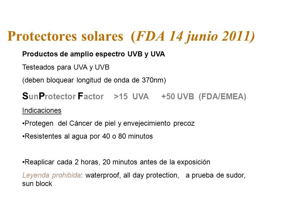 Protectores solares (FDA 14 junio 2011)