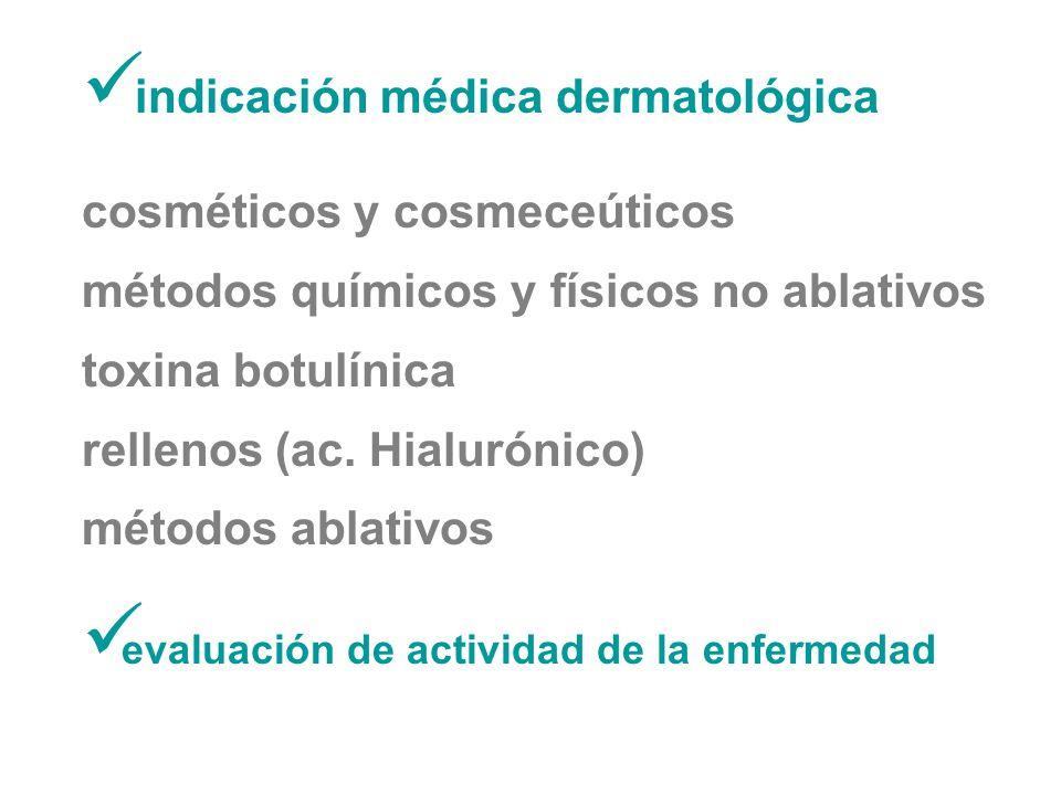 indicación médica dermatológica