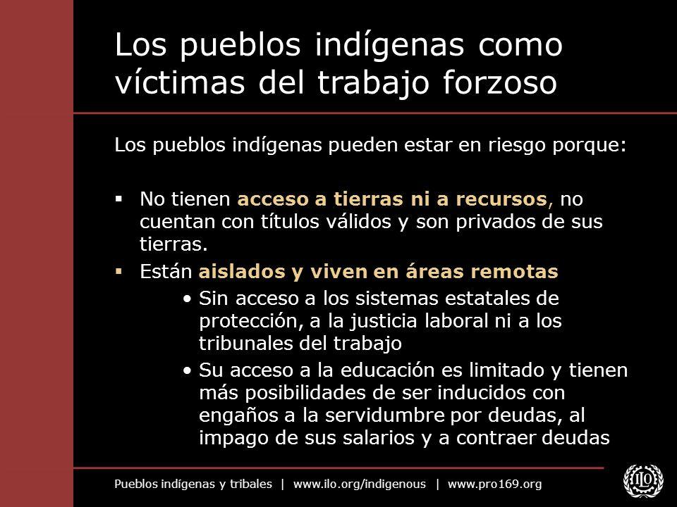 Los pueblos indígenas como víctimas del trabajo forzoso