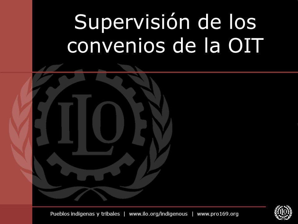 Supervisión de los convenios de la OIT