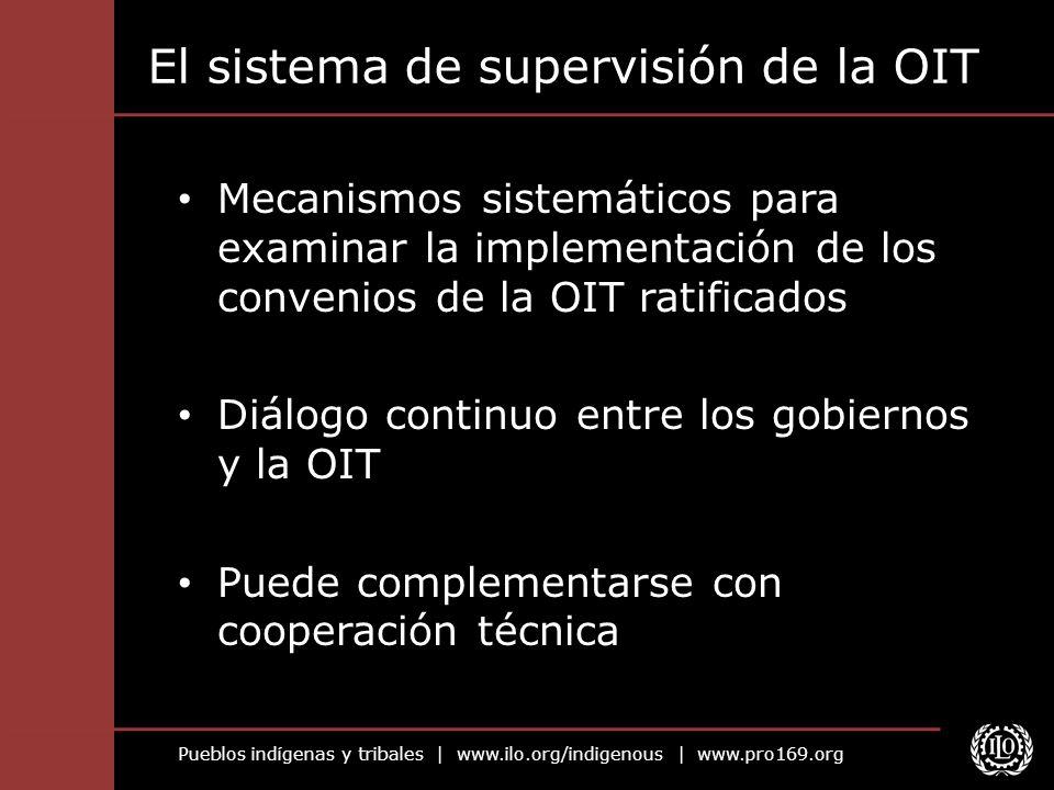 El sistema de supervisión de la OIT