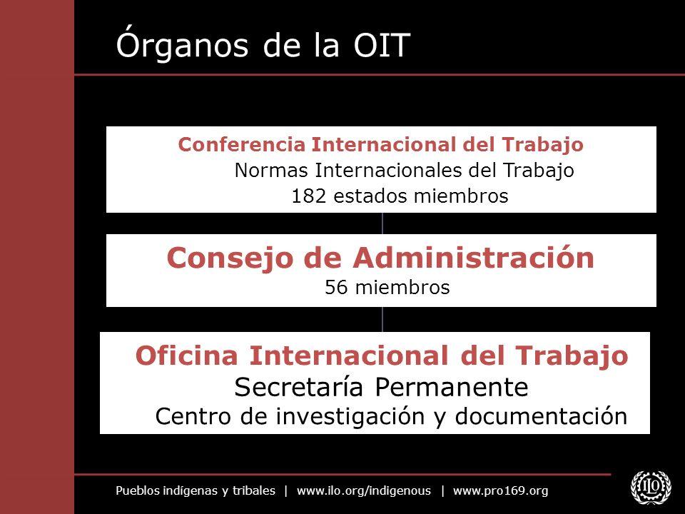 Órganos de la OIT Consejo de Administración