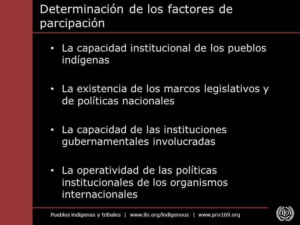 Determinación de los factores de parcipación