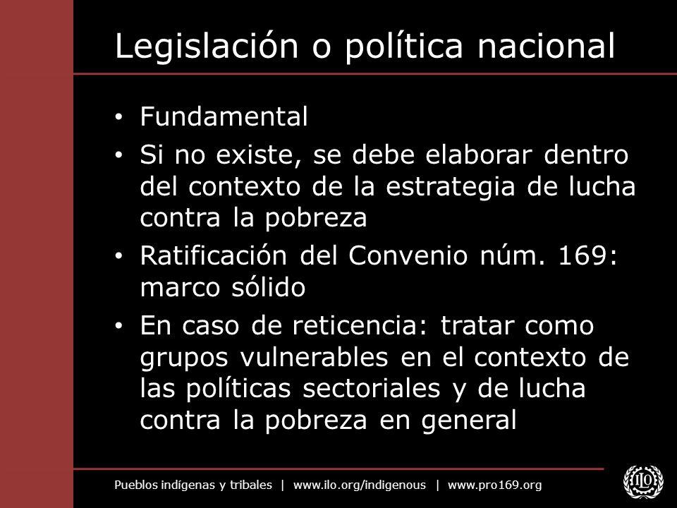Legislación o política nacional
