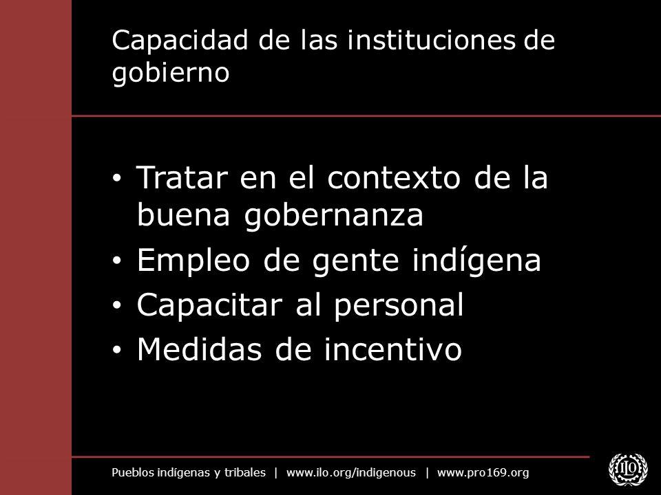 Capacidad de las instituciones de gobierno