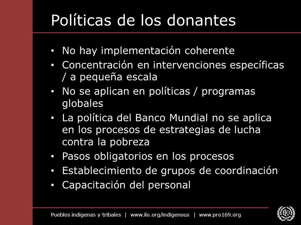 Políticas de los donantes