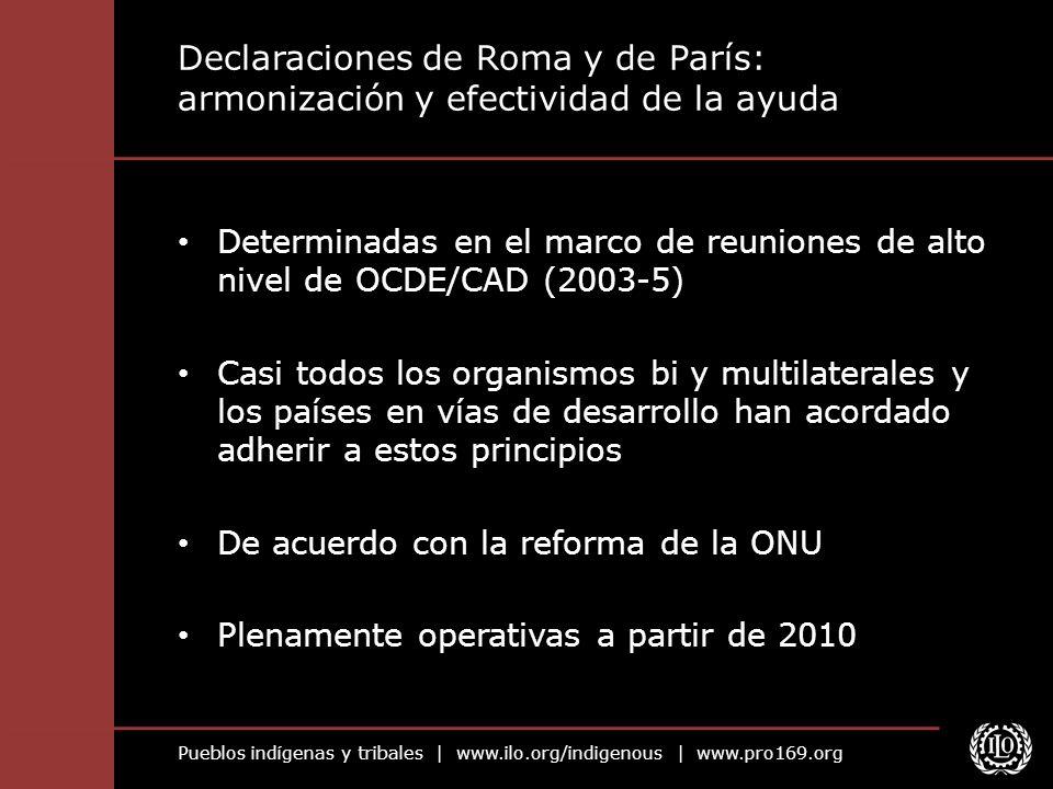 Declaraciones de Roma y de París: armonización y efectividad de la ayuda