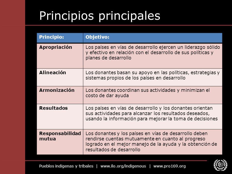 Principios principales