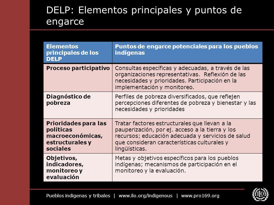 DELP: Elementos principales y puntos de engarce