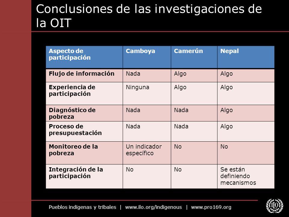 Conclusiones de las investigaciones de la OIT