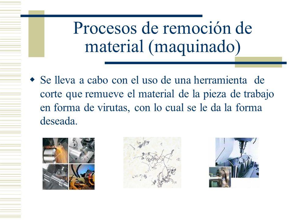 Procesos de remoción de material (maquinado)