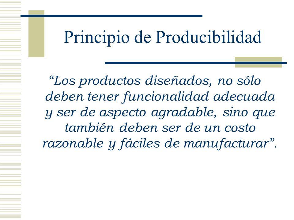Principio de Producibilidad