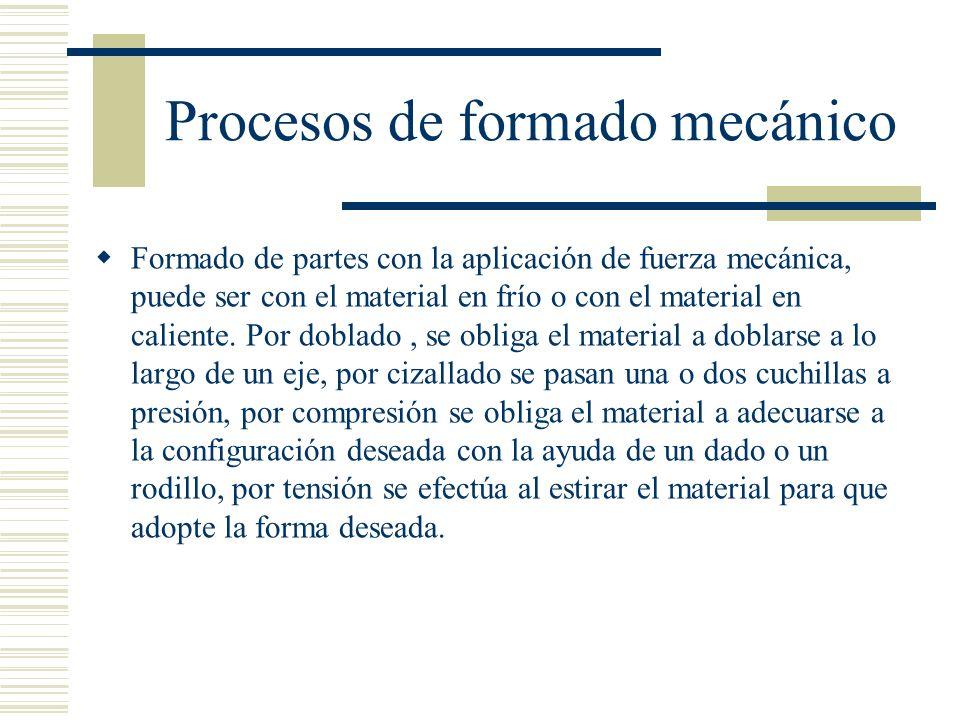 Procesos de formado mecánico