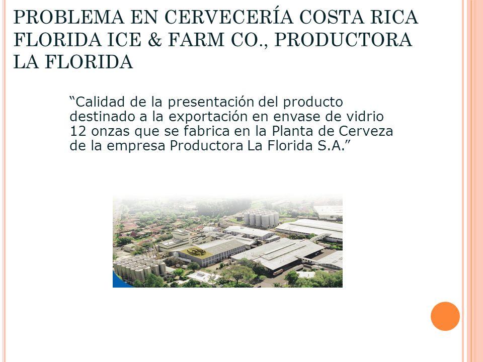 PROBLEMA EN CERVECERÍA COSTA RICA FLORIDA ICE & FARM CO